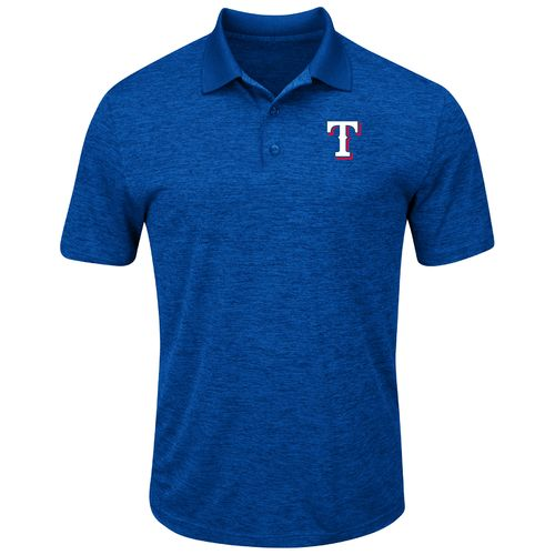 Majestic Men's Texas Rangers Hit First Polo Shirt - view number 2