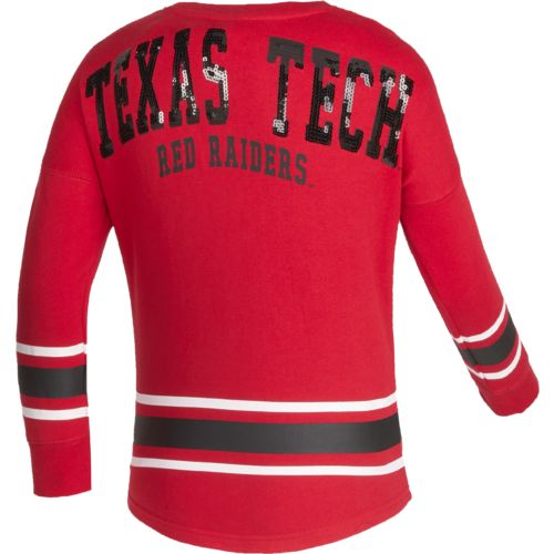 Colosseum Athletics™ Girls' Texas Tech University Boyfriend Varsity Pullover