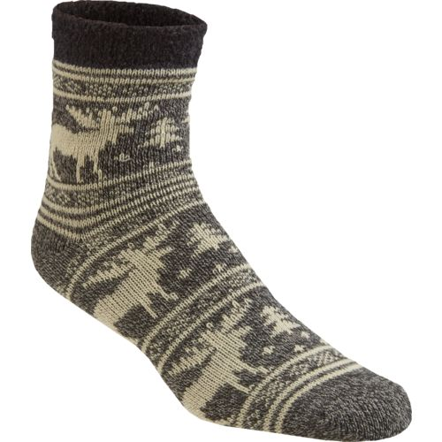 Magellan Outdoors Men's Lodge Moose Pattern Socks