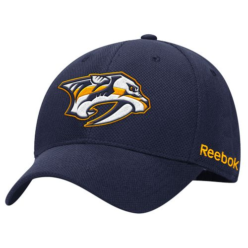Reebok Men's Nashville Predators Face-Off Structured Flex Cap