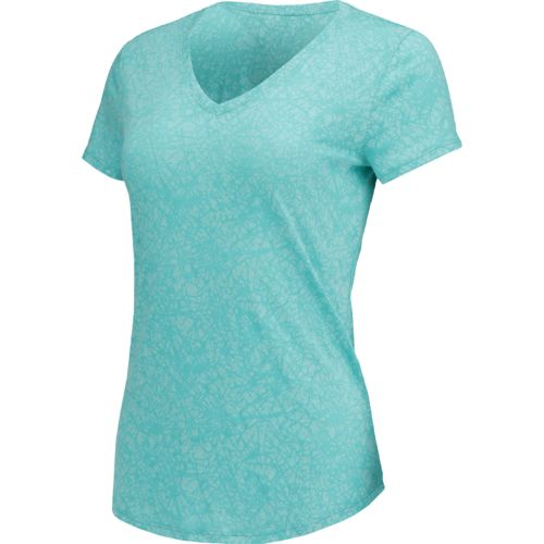 BCG Women's Horizon Crackle Burnout V-neck T-shirt
