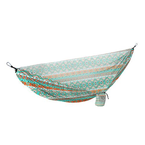 Twisted Root Design Teal Tribal Hammock