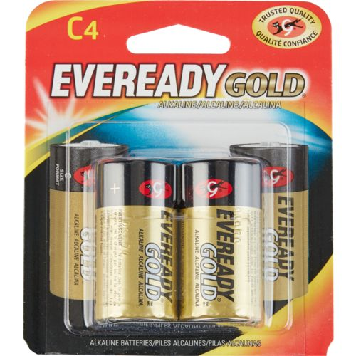 Eveready Gold C Alkaline Batteries 4-Pack
