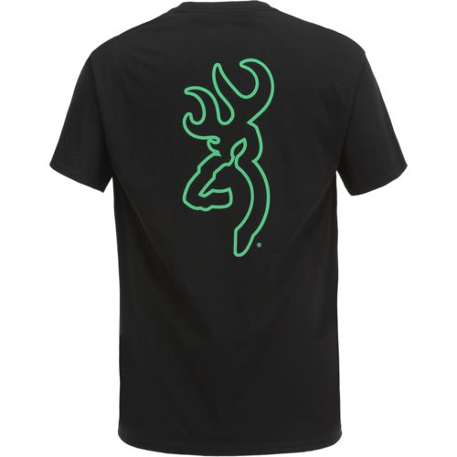 Browning Men's Glow in the Dark Buckmark Short Sleeve T-shirt