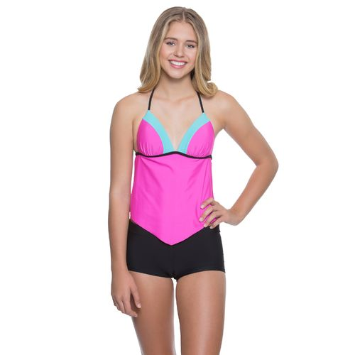 O'Rageous Juniors' Colorblock Molded Tankini Swim Top - view number 1