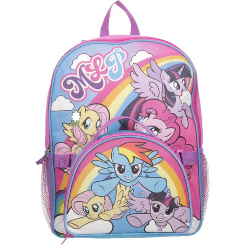 My Little Pony Girls' Rainbow Backpack with Lunch Kit