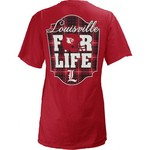 Three Squared Juniors' University of Louisville Team For Life Short Sleeve V-neck T-shirt - view number 1