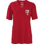 Three Squared Juniors' University of Houston Team For Life Short Sleeve V-neck T-shirt - view number 2