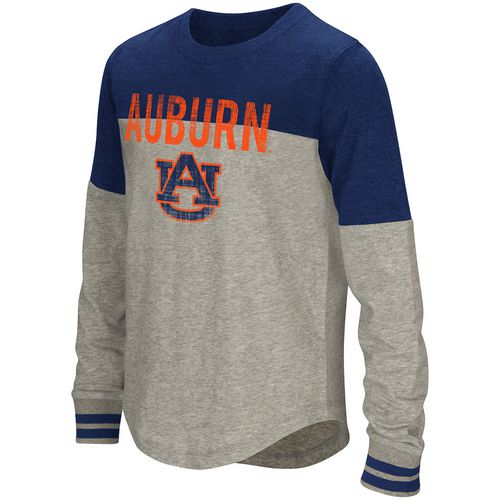 Colosseum Athletics Girls' Auburn University Baton Long Sleeve T-shirt