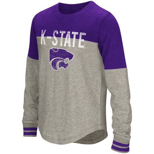 Colosseum Athletics Girls' Kansas State University Baton Long Sleeve T-shirt