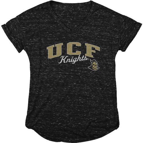 Blue 84 Women's University of Central Florida Dark Confetti V-neck T-shirt