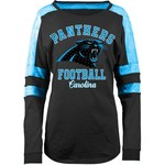 5th & Ocean Clothing Women's Carolina Panthers Space Dye Long Sleeve Fan Top - view number 1