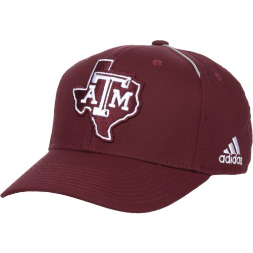 adidas Men's Texas A&M University Coach Structured Flex Cap - view number 2