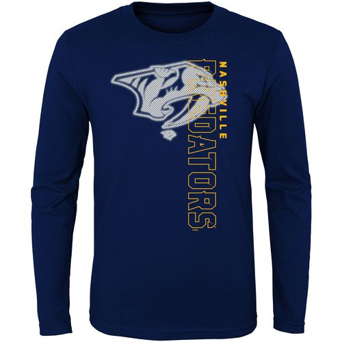 adidas Boys' Nashville Predators Covert Long Sleeve T-shirt