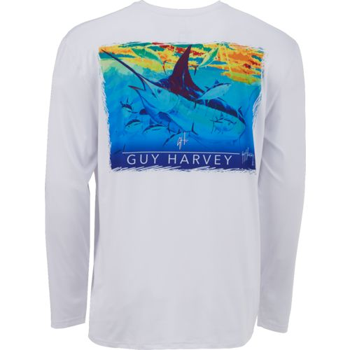Guy Harvey Men's Cruisin' the Line Performance Long Sleeve T-shirt