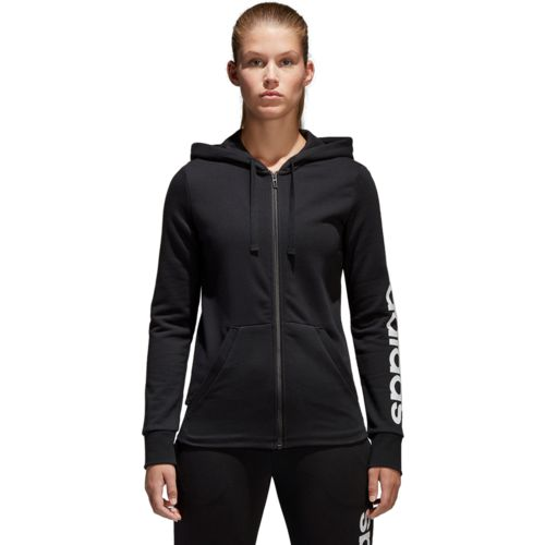 adidas Women's Essentials Linear Full Zip Hoodie - view number 3