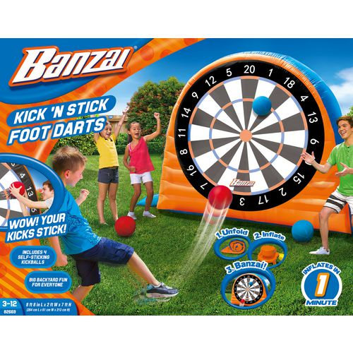 Banzai Land Bouncer All Star Inflatable Kick Dartboard Set - view number 3