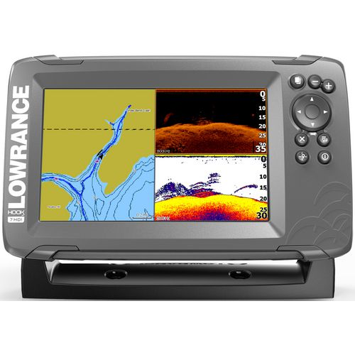 Lowrance hook2 7 tripleshot fishfinder gps combo academy for Academy fish finder