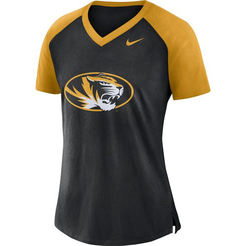 Nike Women's University of Missouri Fan V-neck Top
