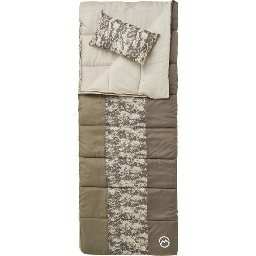 Magellan Outdoors Youth Digital Camo 45 Degrees F Sleeping Bag with Pillow