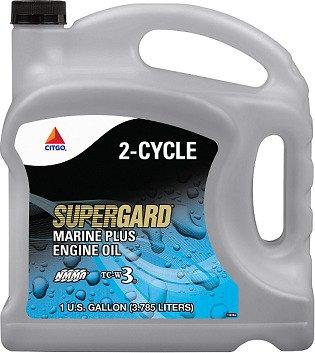 Citgo Supergard 1 Gallon Marine Plus 2 Cycle Engine Oil