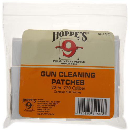 Display product reviews for Hoppe's .22 - .270 Caliber Patches 500-Pack