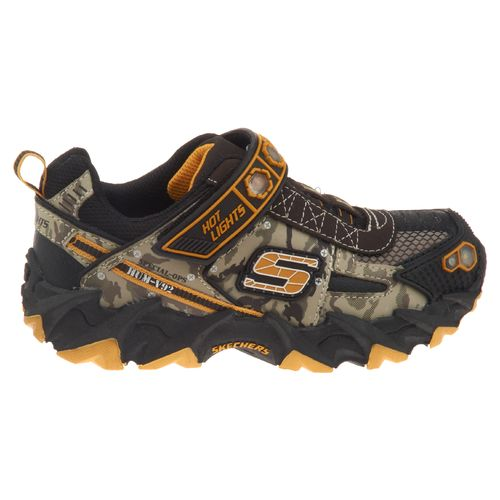 SKECHERS Boys' Hot Lights Ibex - Humvee Light-Up Athletic Lifestyle Shoes