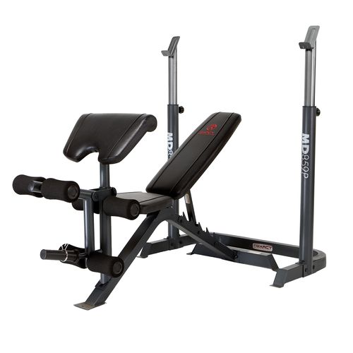 Marcy diamond elite 2 piece adjustable mid width bench academy Academy weight bench