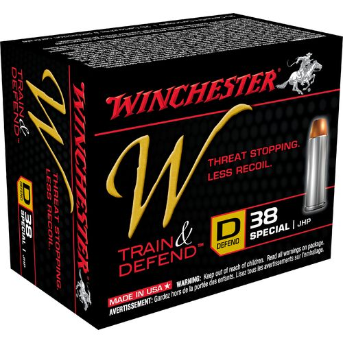 Display product reviews for Winchester Train and Defend .38 Special 130-Grain Centerfire JHP Pistol Ammunition