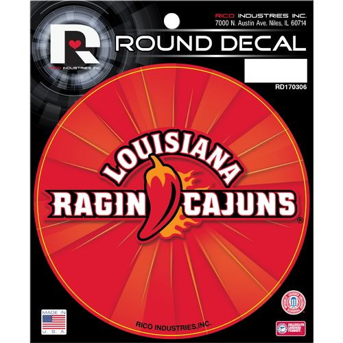 Rico University of Louisiana at Lafayette Round Decal