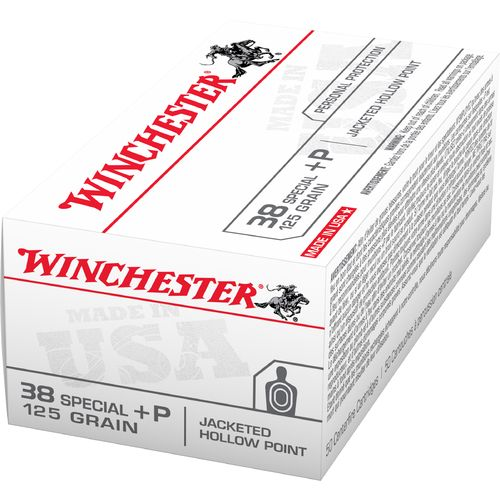 Winchester USA JHP .38 Special +P 125-Grain Handgun Ammunition - view number 1