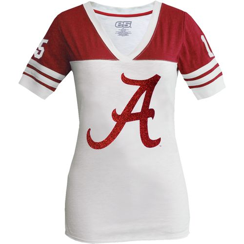 E5 women 39 s university of alabama sugar glitter football t for University of alabama football t shirts