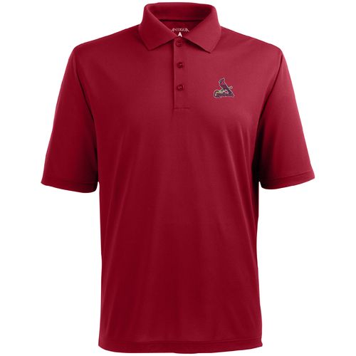 Antigua Men's St. Louis Cardinals Piqué Xtra-Lite Polo Shirt