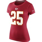 Nike Women's Kansas City Chiefs Jamaal Charles #25 Player Pride T-shirt