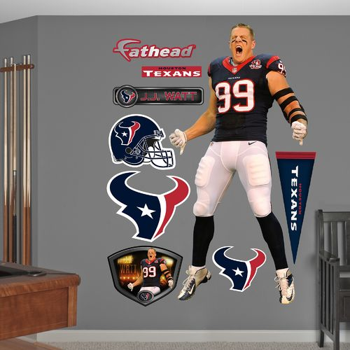 Fathead Houston Texans J.J. Watt #99 Entrance Team and Player Decals 9-Pack