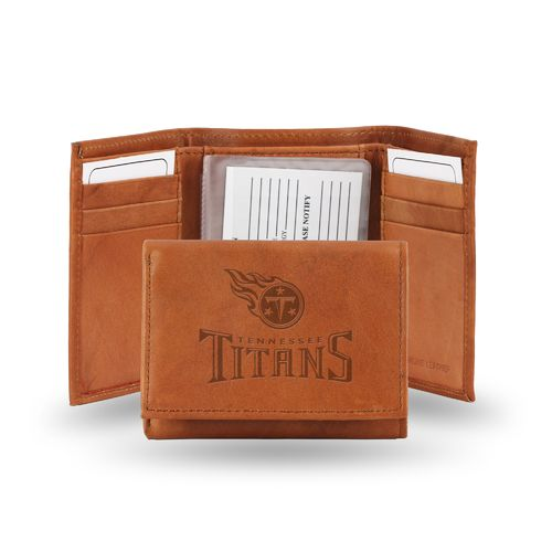 Rico Tennessee Titans Embossed Trifold Leather Wallet