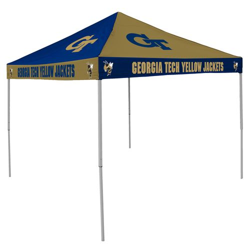 Logo Georgia Tech Straight-Leg 9 ft x 9 ft Checkerboard Tent