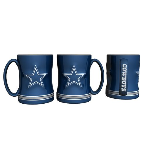 Boelter Brands Dallas Cowboys 14 oz. Relief-Style Coffee Mug