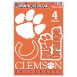 WinCraft Clemson University Multiuse Decals 4-Pack - view number 1