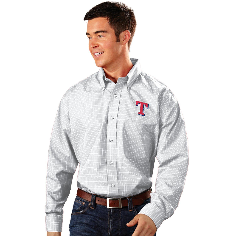 Antigua Men's Texas Rangers Esteem Dress Shirt