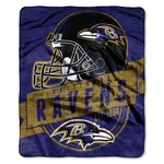 The Northwest Company Baltimore Ravens Grandstand Raschel Throw