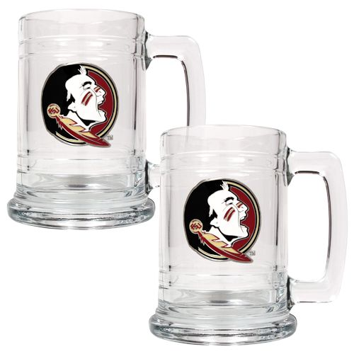 Great American Products Florida State University 15 oz. Glass Tankards 2-Pack