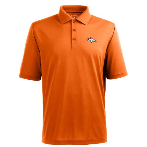 Antigua Men's Denver Broncos Piqué Xtra-Lite Polo Shirt