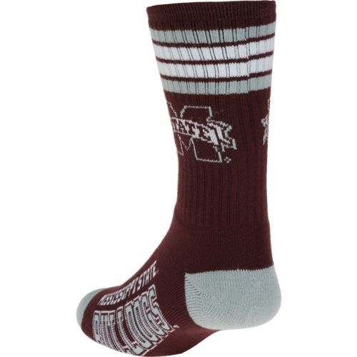 For Bare Feet Adults' Mississippi State University 4-Stripe Deuce Socks - view number 2