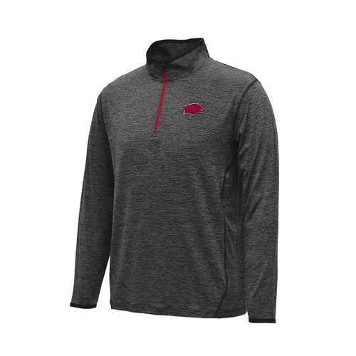 Colosseum Athletics Men's University of Arkansas Action Pass Long Sleeve 1/4 Zip Pullover