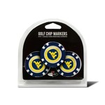 Team Golf West Virginia University Poker Chip and Golf Ball Marker Set