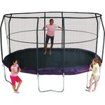 Jumpking JumpPOD 8' x 14' Oval Trampoline with Enclosure