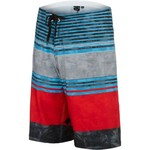Burnside Men's Thick and Thin Stripe Colorblock Print Boardshort