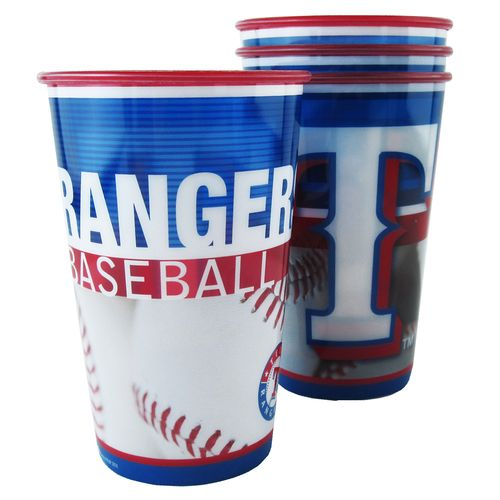 Boelter Brands Texas Rangers 20 oz. Souvenir Cups 8-Pack - view number 1