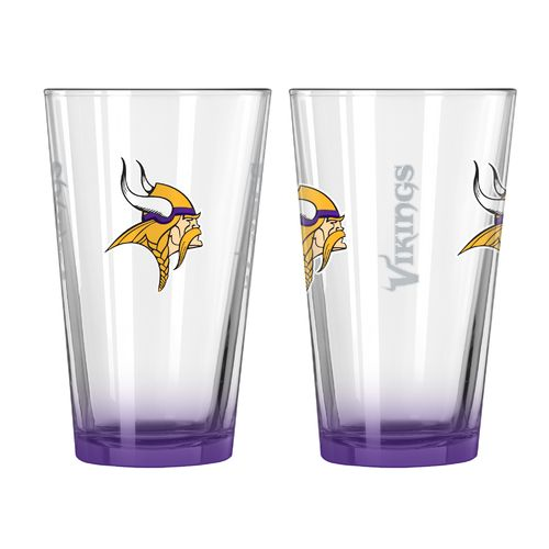 Boelter Brands Minnesota Vikings Elite 16 oz. Pint Glasses 2-Pack